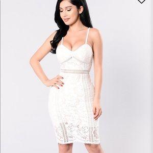 Ivory lace fashion nova dress